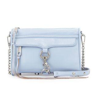 Rebecca Minkoff Mini MAC Light Blue Crossbody Bag!